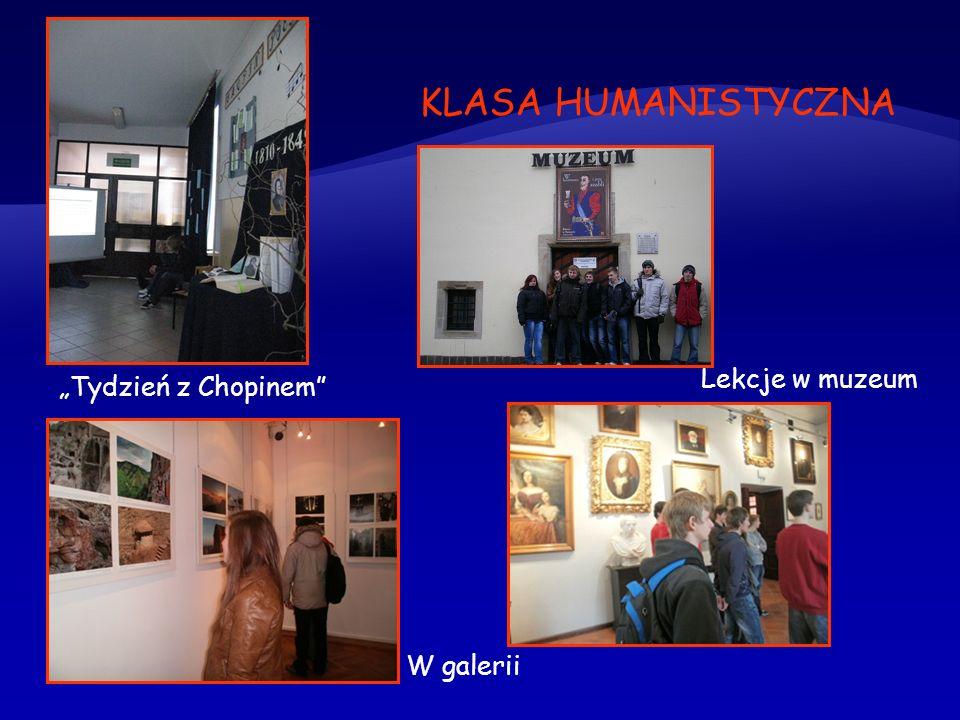 """KLASA HUMANISTYCZNA Lekcje w muzeum """"Tydzień z Chopinem W galerii"""