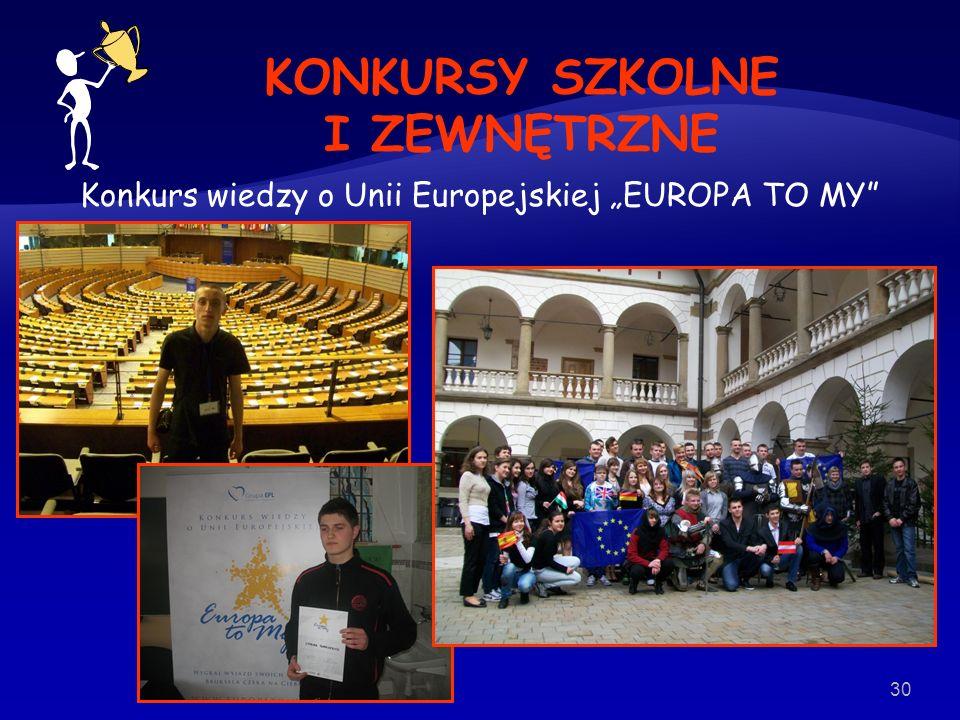"""Konkurs wiedzy o Unii Europejskiej """"EUROPA TO MY"""