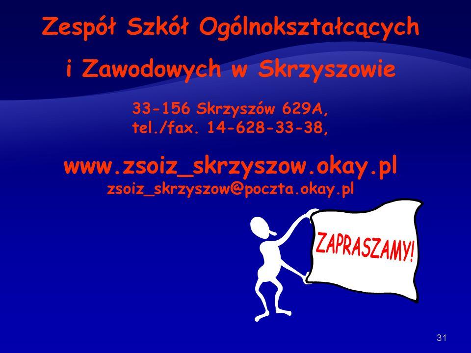 Zespół Szkół Ogólnokształcących i Zawodowych w Skrzyszowie
