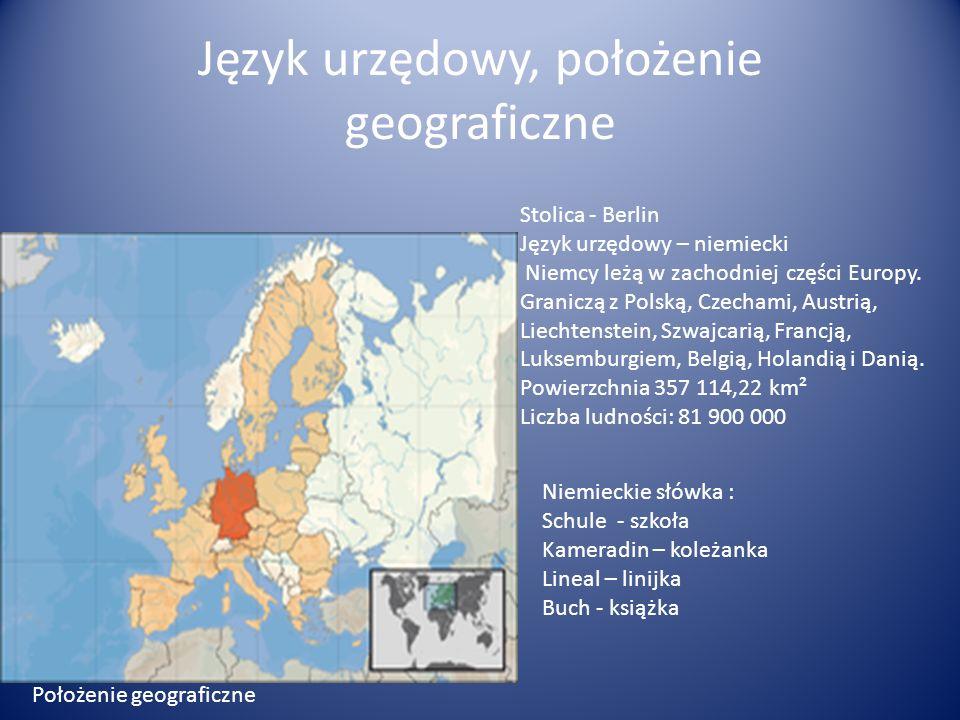 Język urzędowy, położenie geograficzne