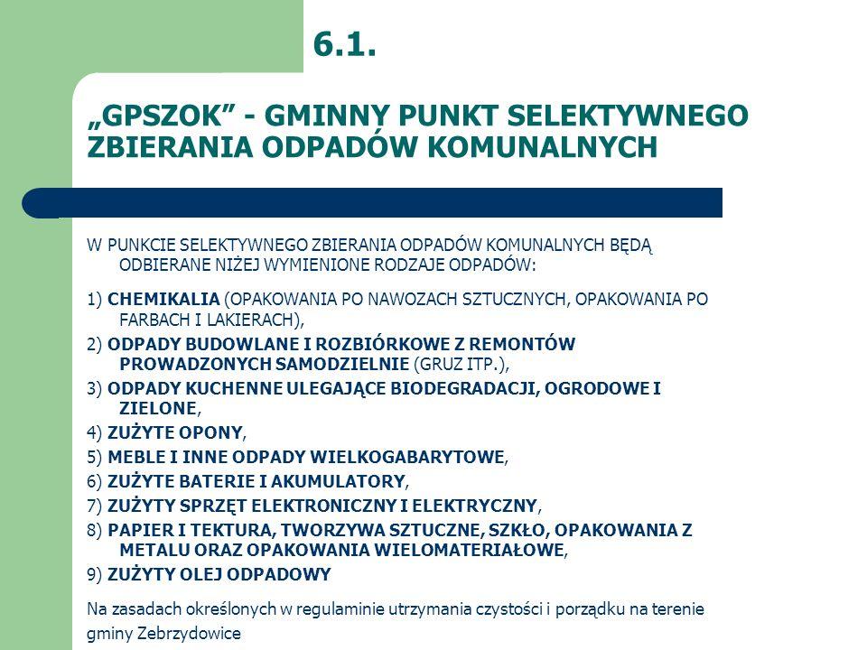 """""""GPSZOK - GMINNY PUNKT SELEKTYWNEGO ZBIERANIA ODPADÓW KOMUNALNYCH"""