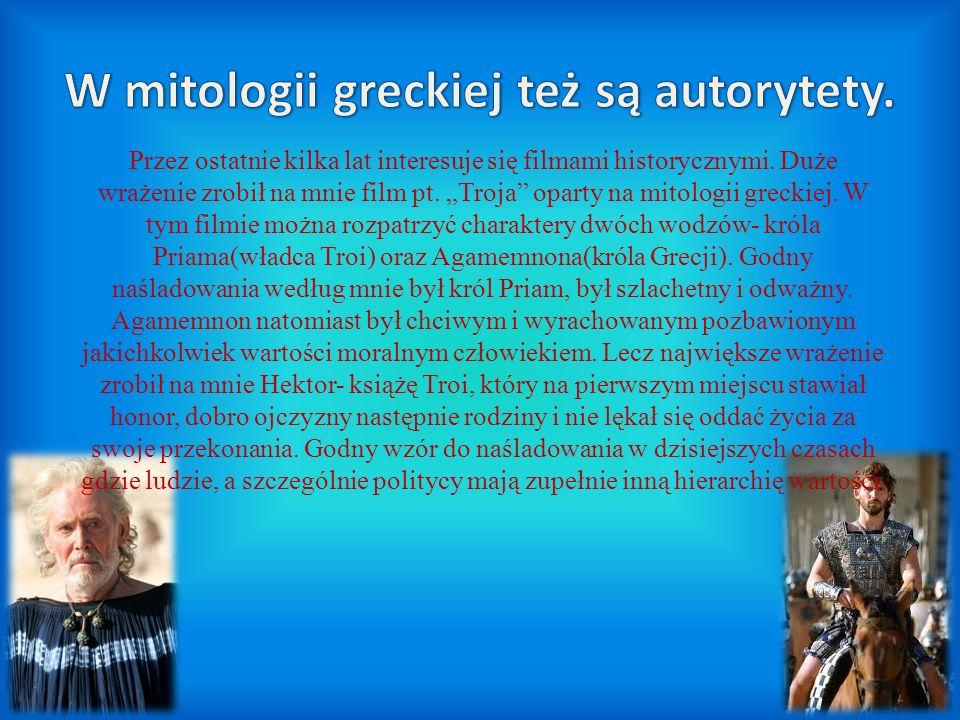 W mitologii greckiej też są autorytety.