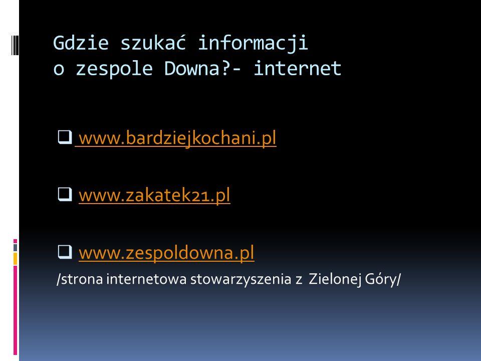 Gdzie szukać informacji o zespole Downa - internet