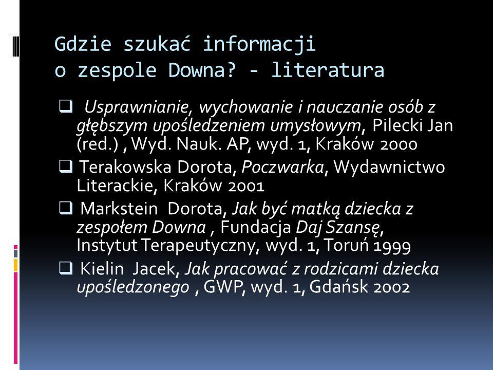 Gdzie szukać informacji o zespole Downa - literatura