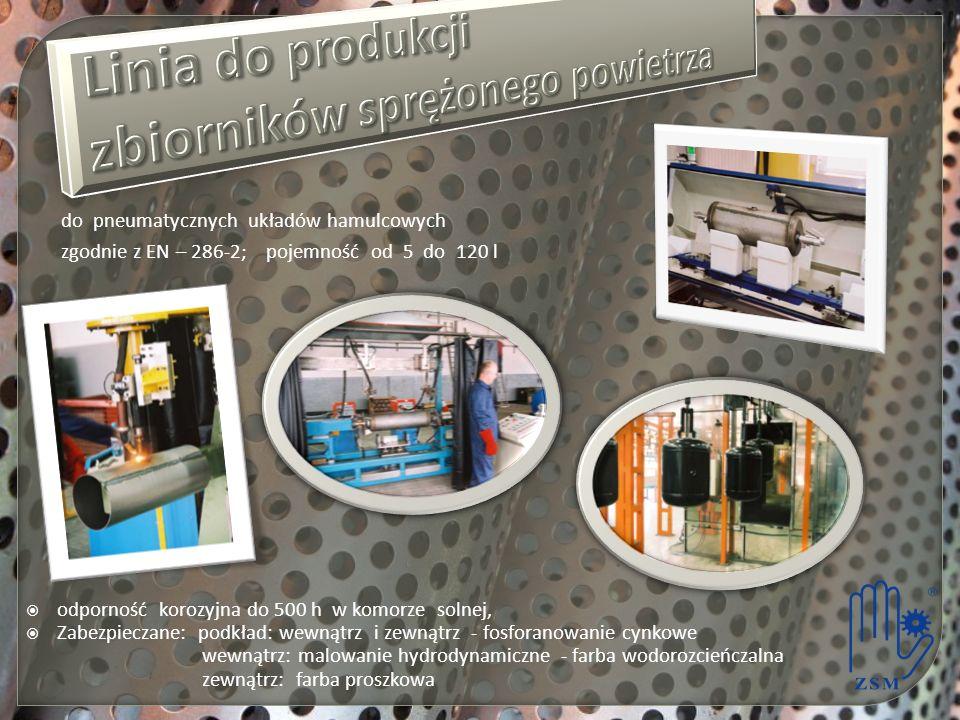 Linia do produkcji zbiorników sprężonego powietrza
