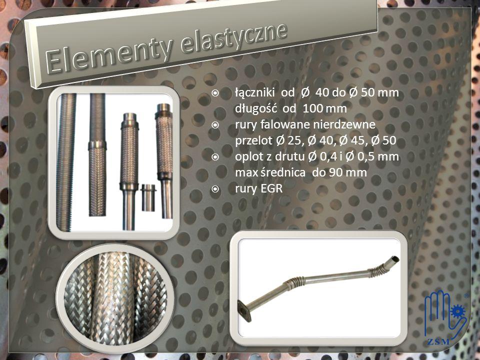Elementy elastyczne łączniki od Ø 40 do Ø 50 mm długość od 100 mm