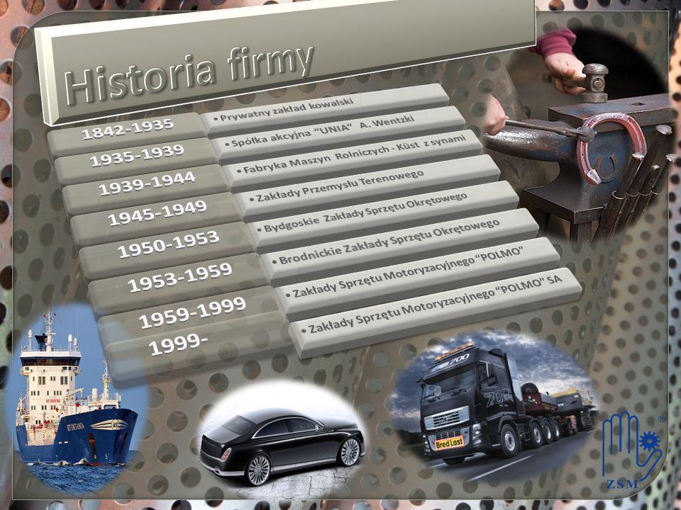 Historia firmy 1842-1935. Prywatny zakład kowalski. 1935-1939. Spółka akcyjna UNIA A. Wentzki.