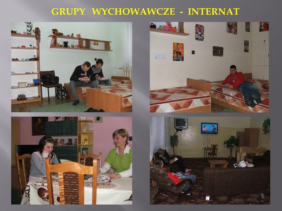 GRUPY WYCHOWAWCZE - INTERNAT