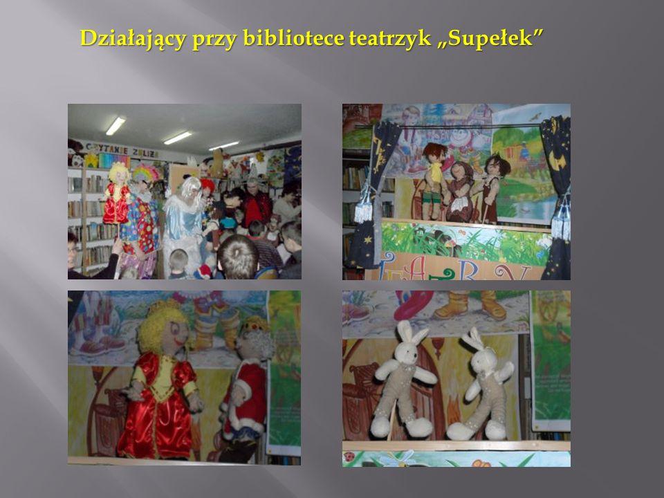 """Działający przy bibliotece teatrzyk """"Supełek"""