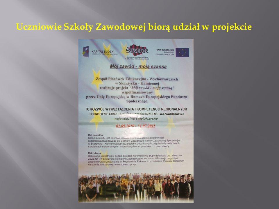 Uczniowie Szkoły Zawodowej biorą udział w projekcie