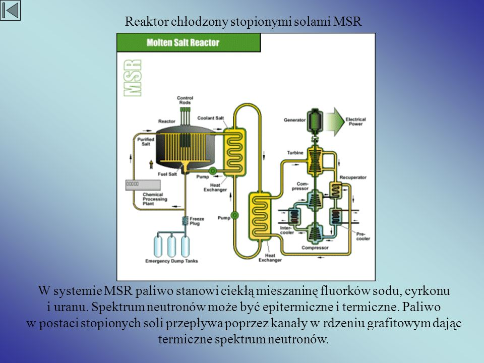 Reaktor chłodzony stopionymi solami MSR