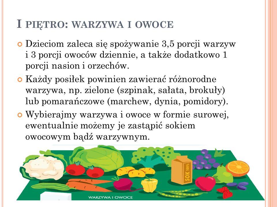I piętro: warzywa i owoce