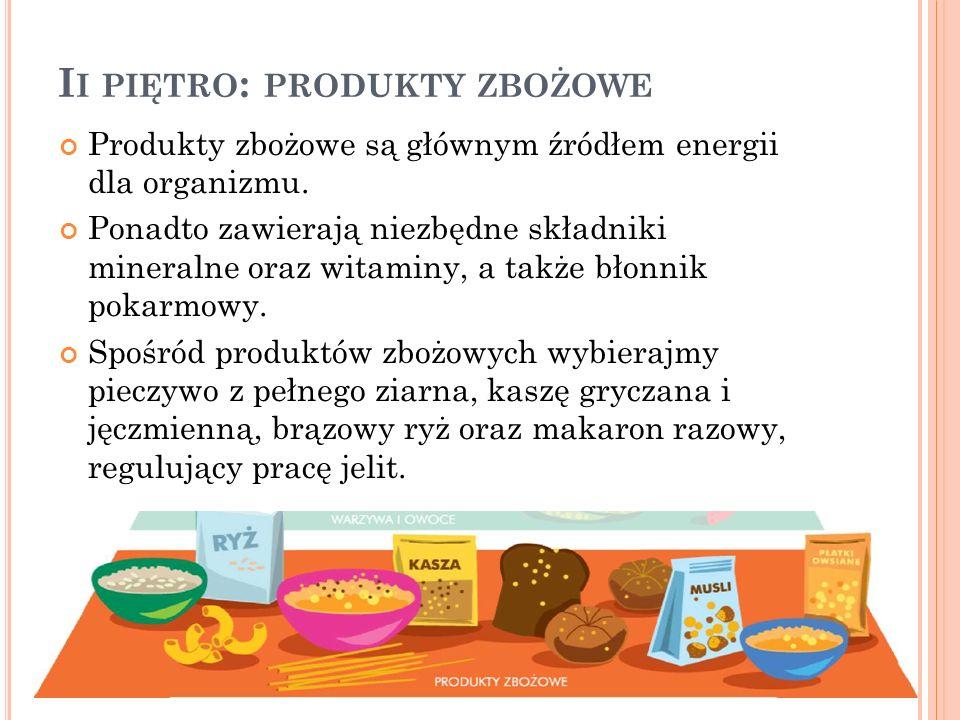 Ii piętro: produkty zbożowe