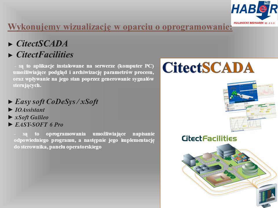 CitectSCADA Wykonujemy wizualizację w oparciu o oprogramowanie: