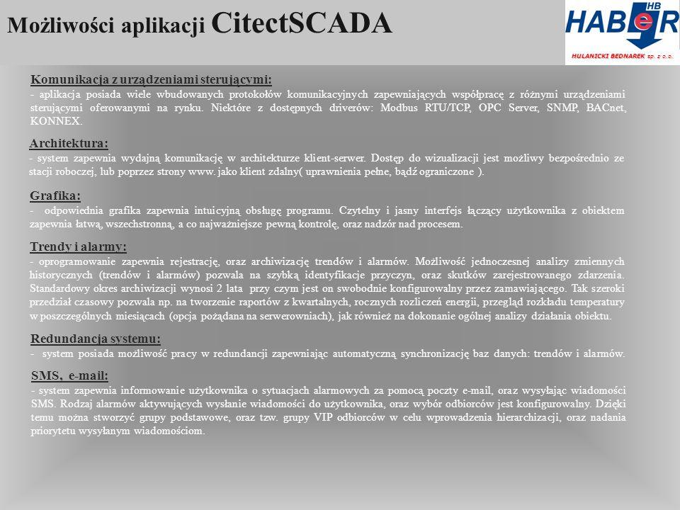 Możliwości aplikacji CitectSCADA