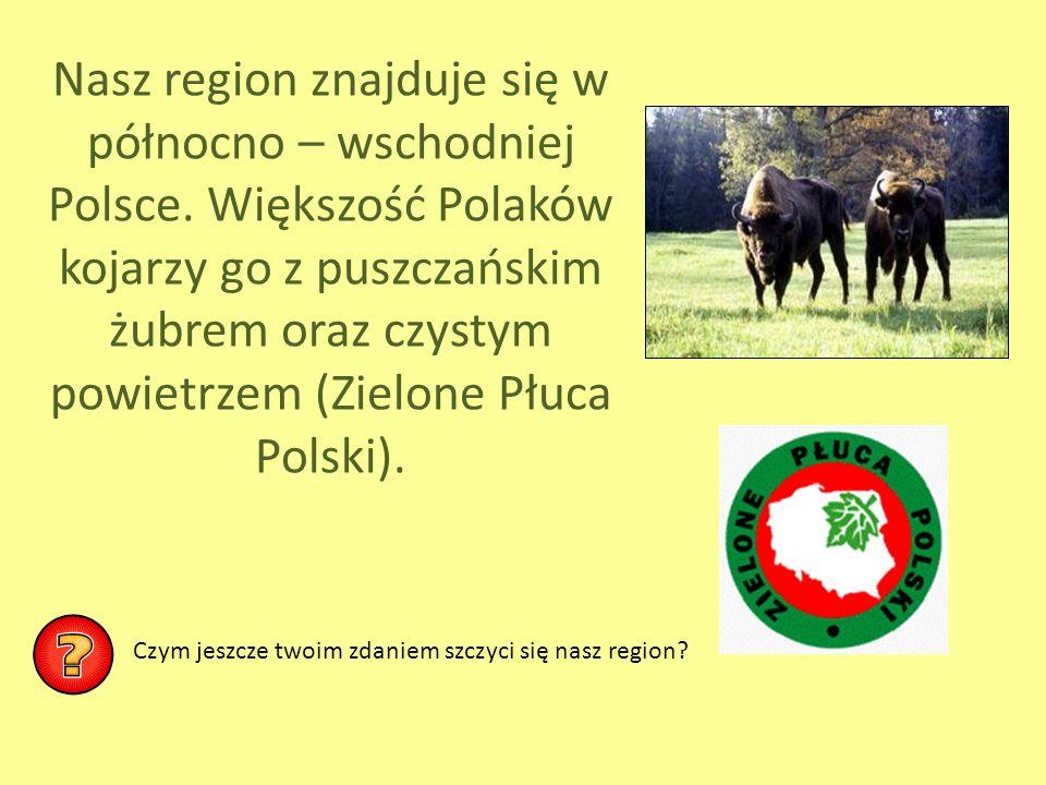 Nasz region znajduje się w północno – wschodniej Polsce
