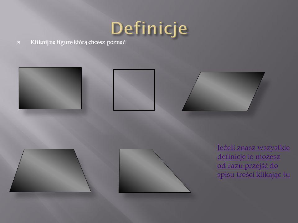 Definicje Kliknij na figurę którą chcesz poznać.