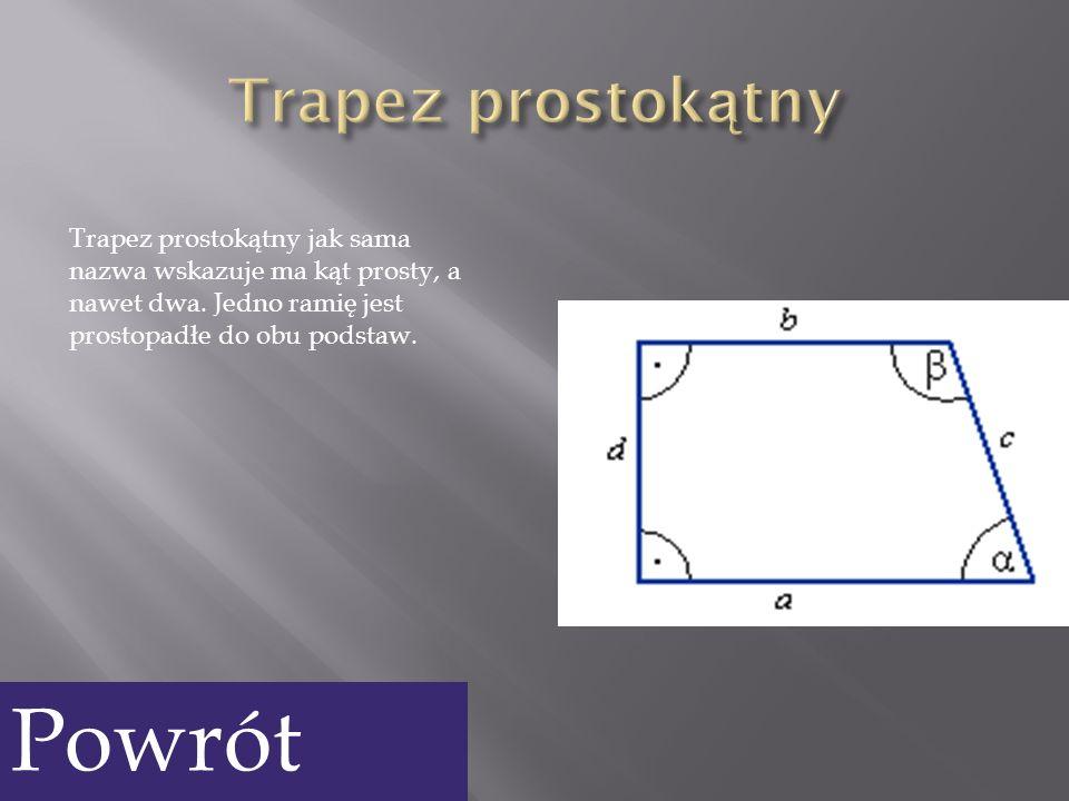 Powrót Trapez prostokątny