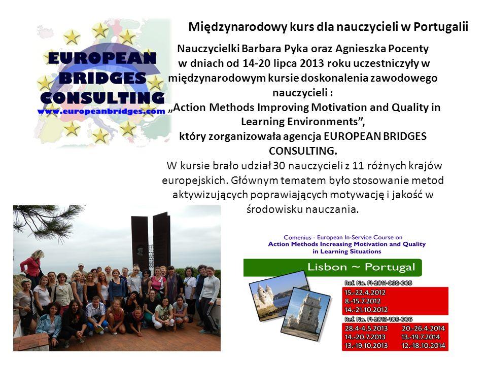 Międzynarodowy kurs dla nauczycieli w Portugalii
