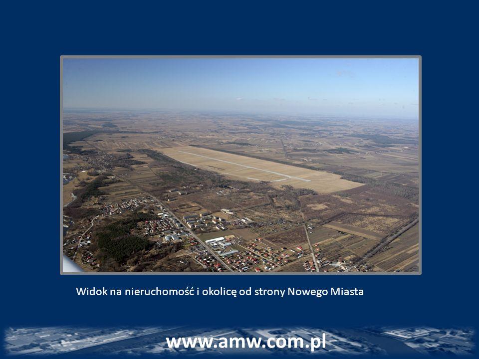 Widok na nieruchomość i okolicę od strony Nowego Miasta