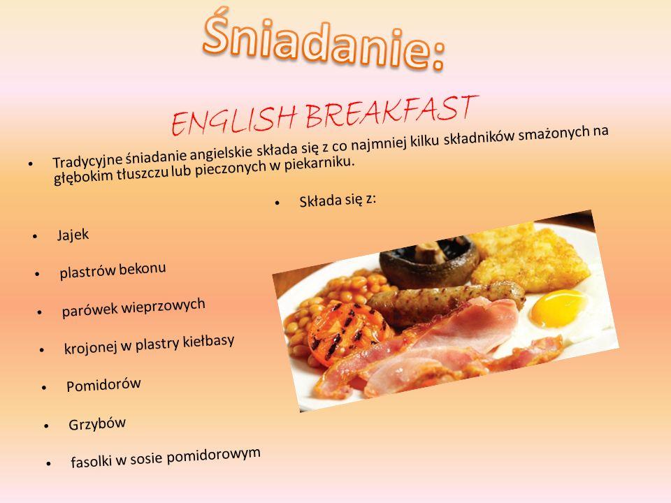 Śniadanie: English breakfast