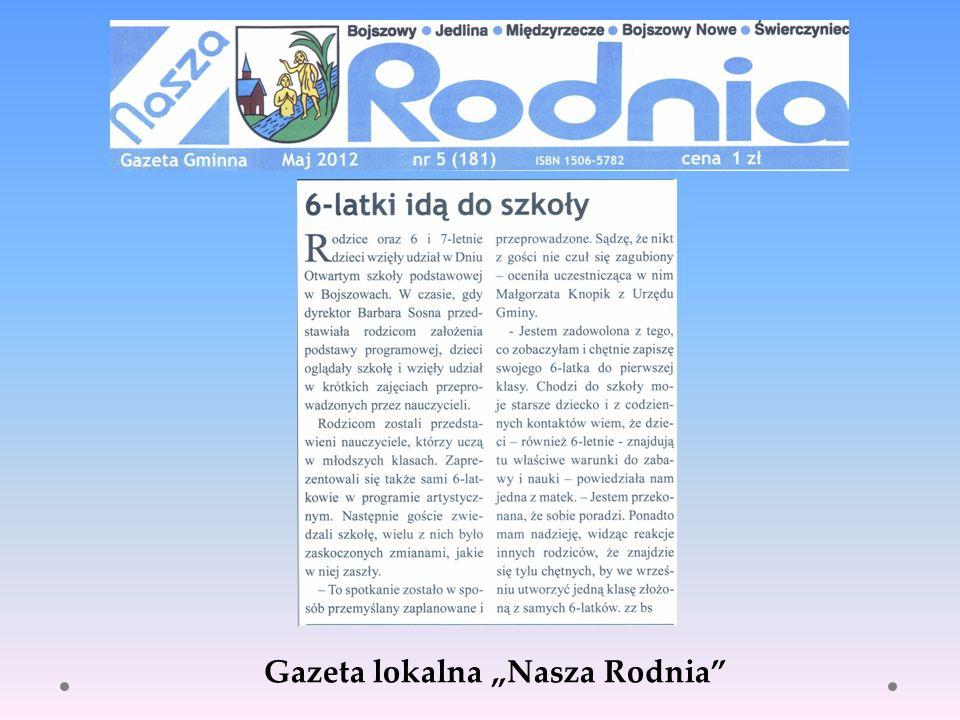 "Gazeta lokalna ""Nasza Rodnia"
