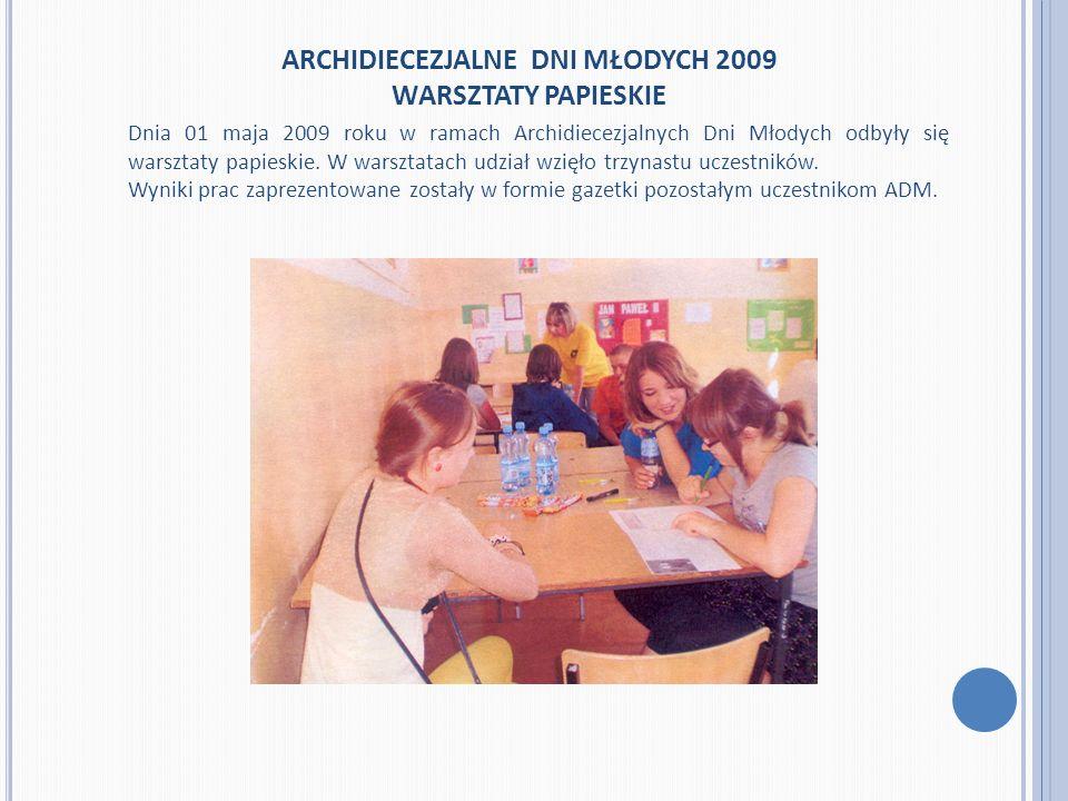ARCHIDIECEZJALNE DNI MŁODYCH 2009