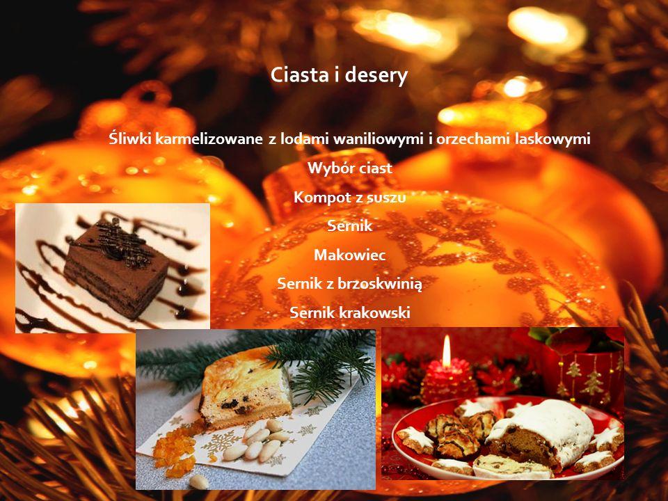 Śliwki karmelizowane z lodami waniliowymi i orzechami laskowymi