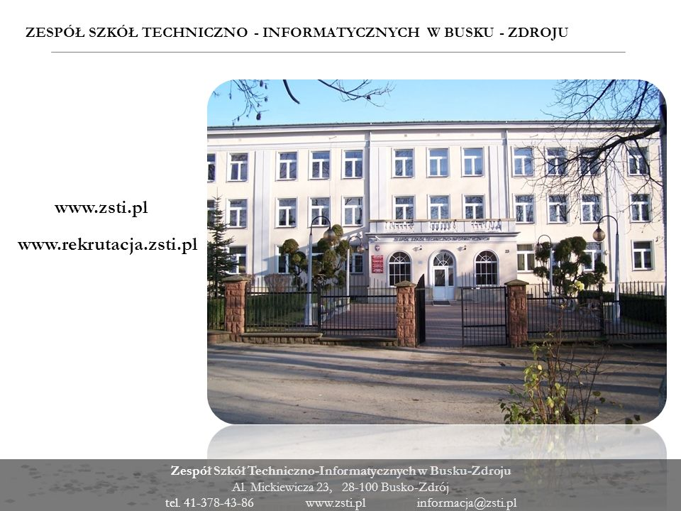 www.zsti.pl www.rekrutacja.zsti.pl