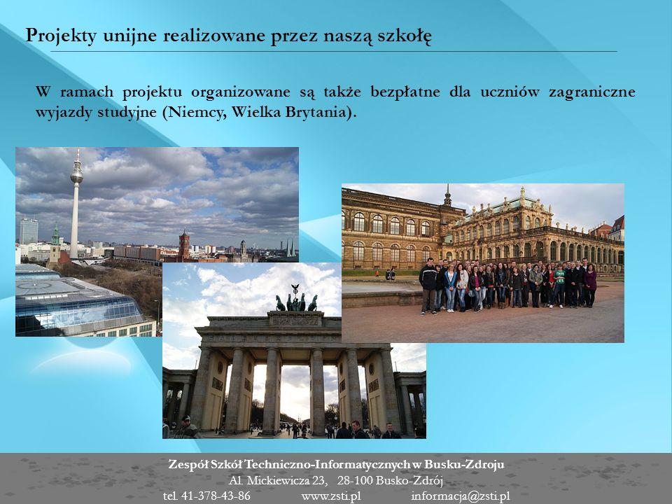 Projekty unijne realizowane przez naszą szkołę