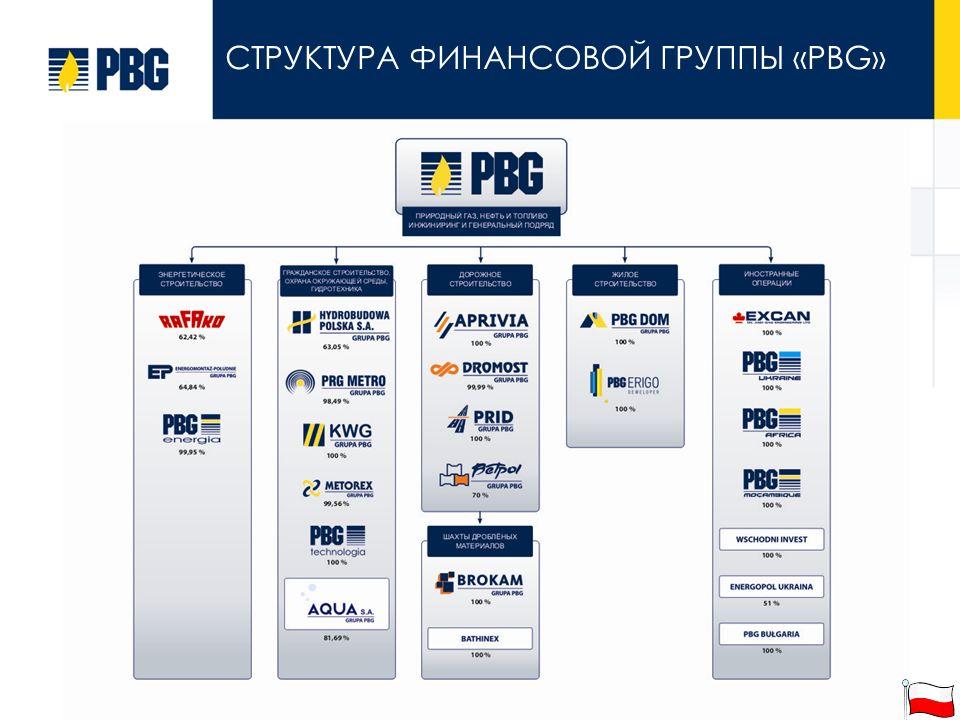 СТРУКТУРА ФИНАНСОВОЙ ГРУППЫ «PBG»