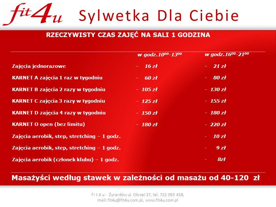 Masażyści według stawek w zależności od masażu od 40-120 zł
