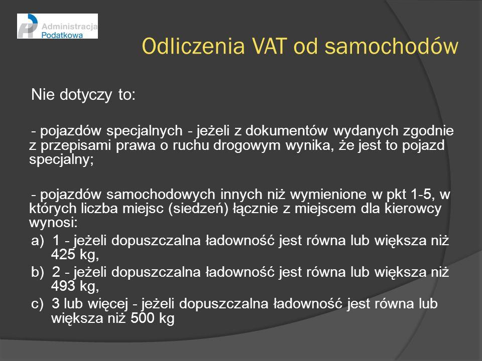 Odliczenia VAT od samochodów