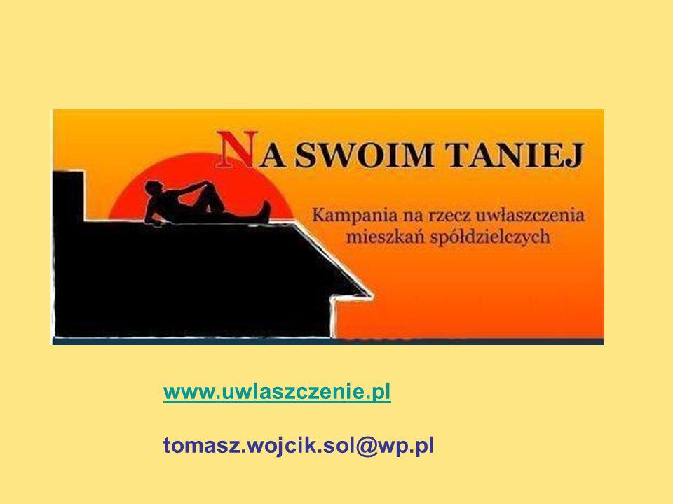 www.uwlaszczenie.pl tomasz.wojcik.sol@wp.pl