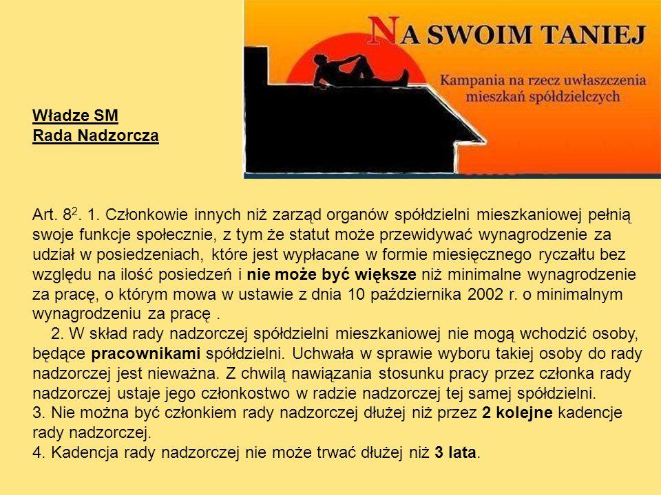 Władze SM Rada Nadzorcza.