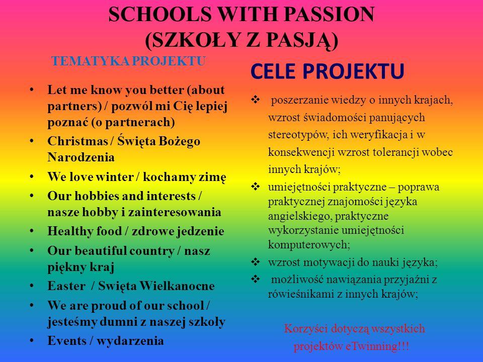 SCHOOLS WITH PASSION (SZKOŁY Z PASJĄ)
