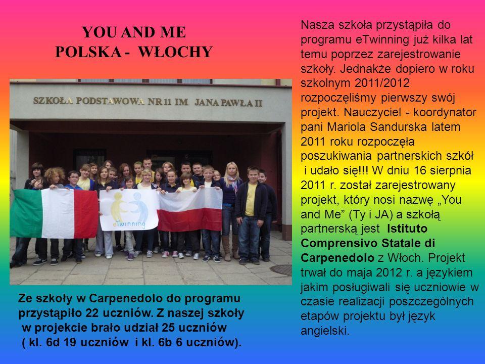 YOU AND ME POLSKA - WŁOCHY