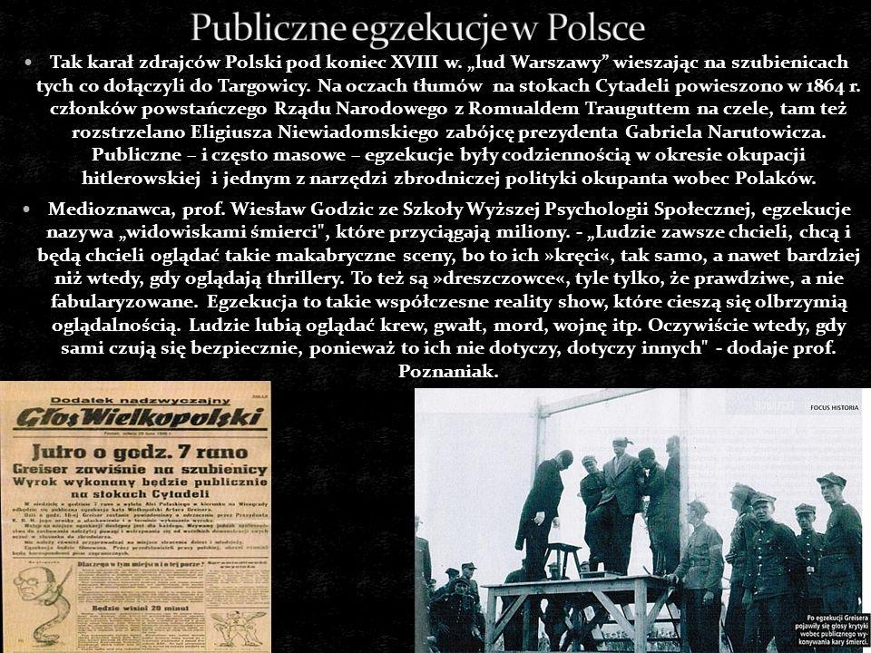 Publiczne egzekucje w Polsce