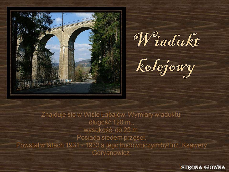 Znajduje się w Wiśle Łabajów. Wymiary wiaduktu: długość 120 m.,
