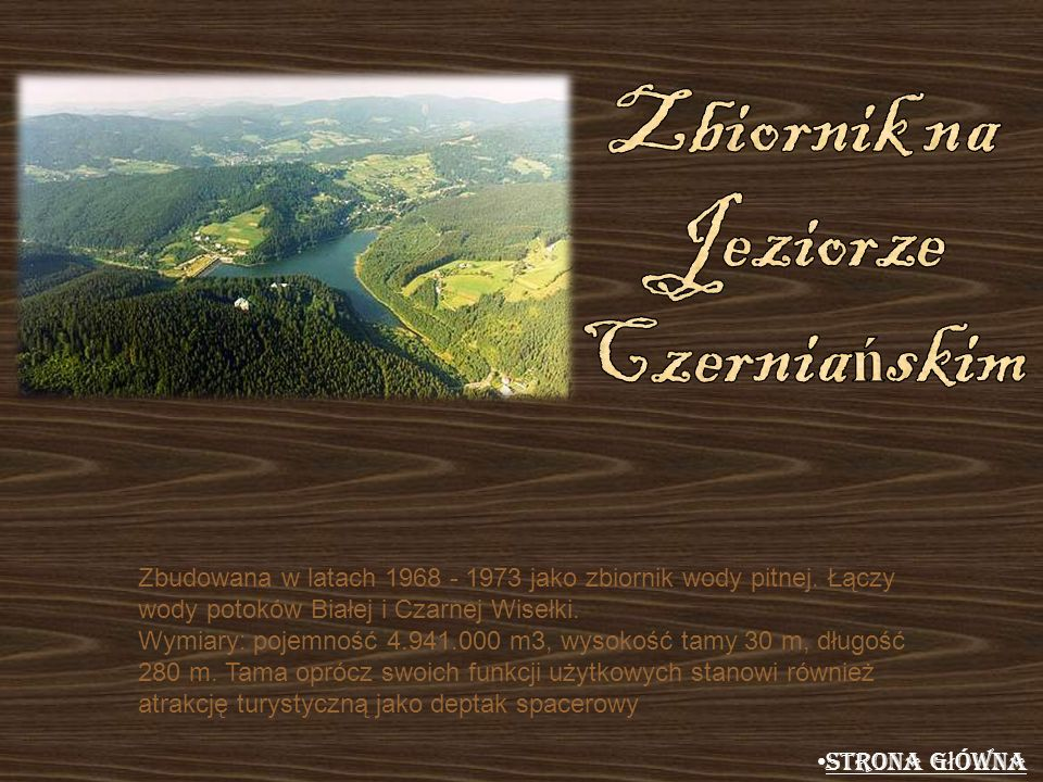 Zbiornik na Jeziorze Czerniańskim