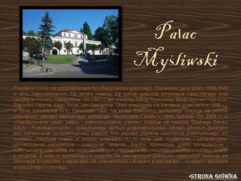 Pałac Myśliwski Strona główna