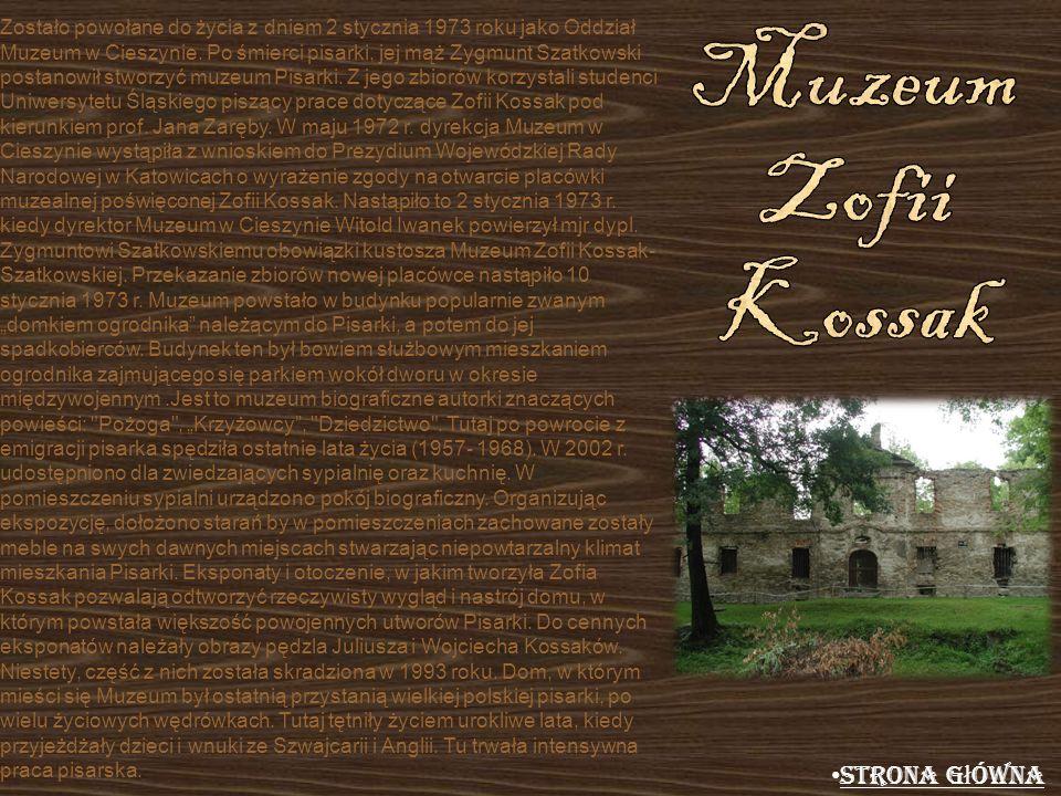Muzeum Zofii Kossak Strona główna