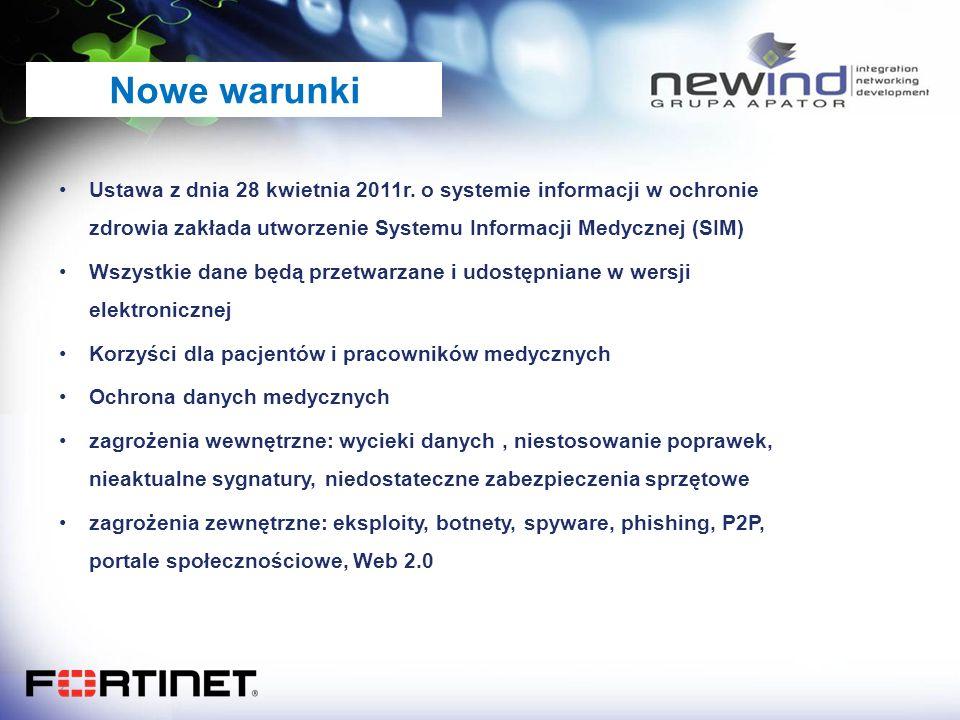 Nowe warunki Ustawa z dnia 28 kwietnia 2011r. o systemie informacji w ochronie zdrowia zakłada utworzenie Systemu Informacji Medycznej (SIM)