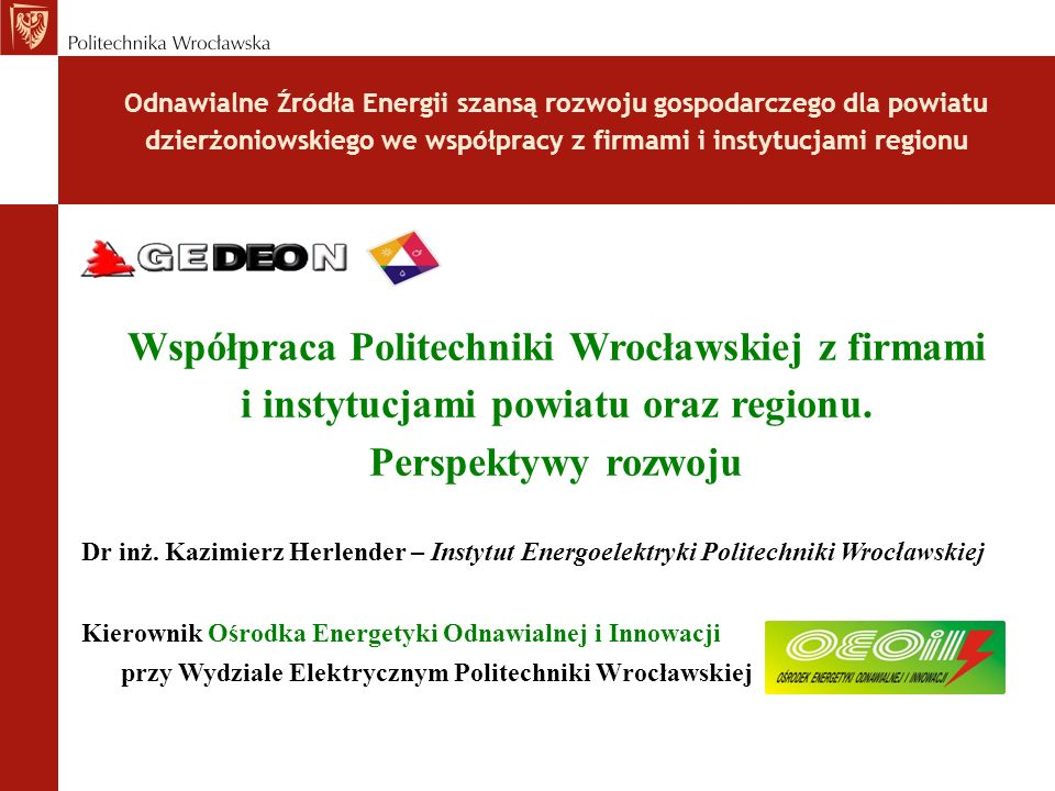 Współpraca Politechniki Wrocławskiej z firmami