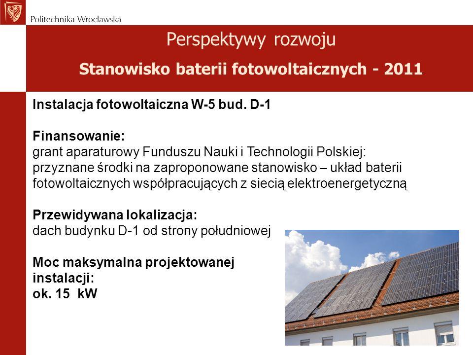 Perspektywy rozwoju Stanowisko baterii fotowoltaicznych - 2011