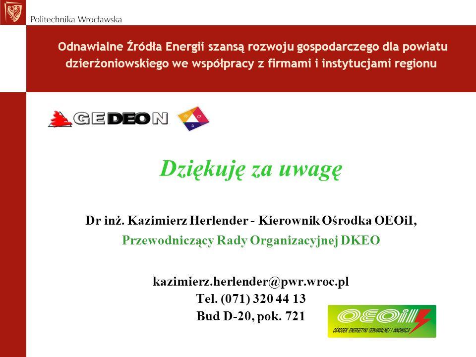 Odnawialne Źródła Energii szansą rozwoju gospodarczego dla powiatu dzierżoniowskiego we współpracy z firmami i instytucjami regionu