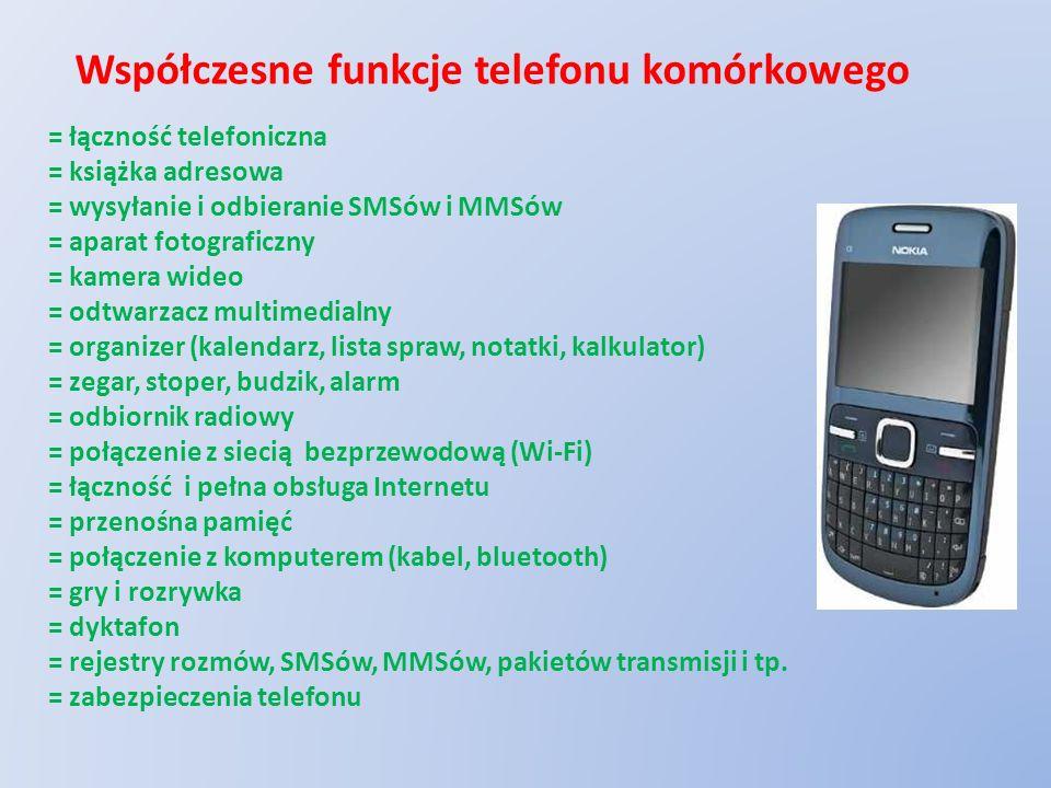 Współczesne funkcje telefonu komórkowego
