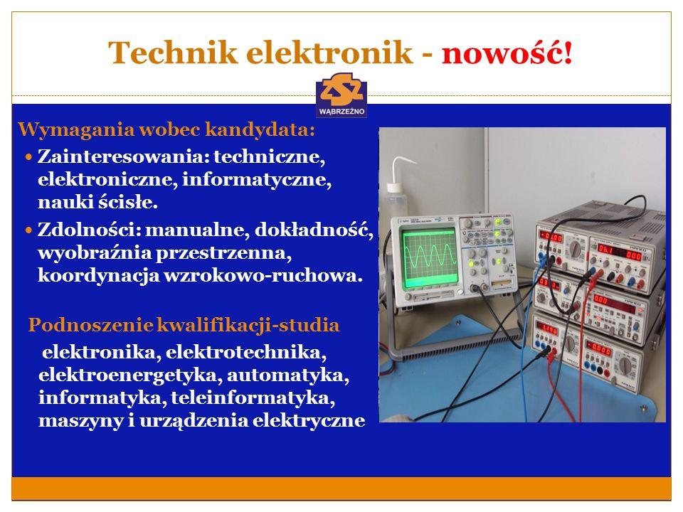 Technik elektronik - nowość!