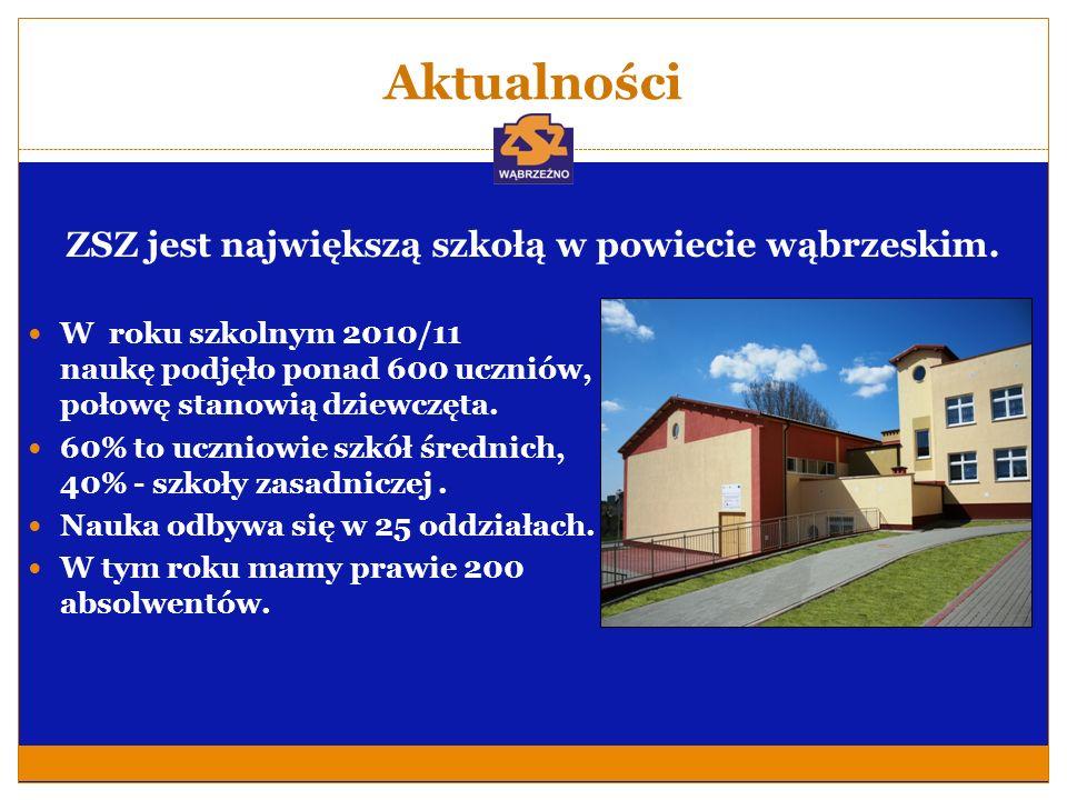 ZSZ jest największą szkołą w powiecie wąbrzeskim.