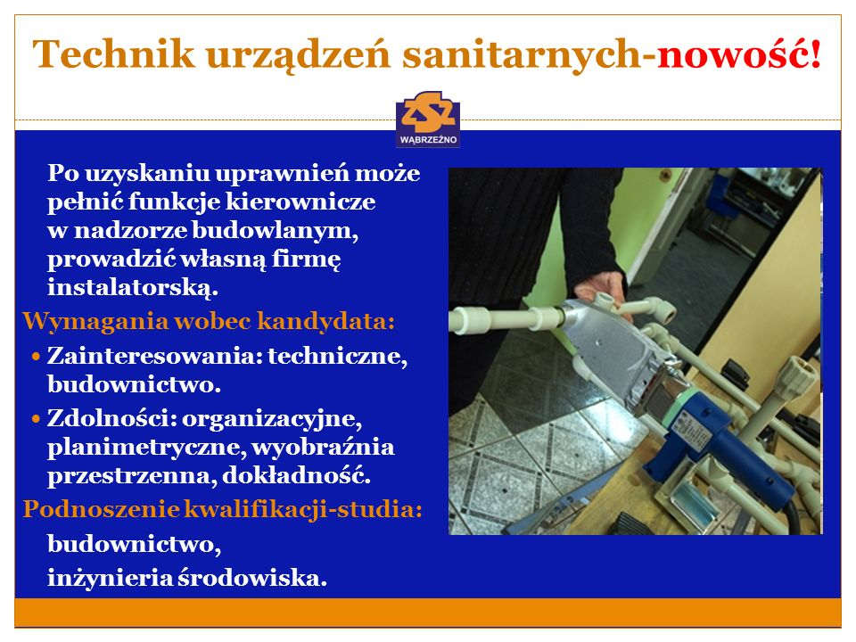 Technik urządzeń sanitarnych-nowość!